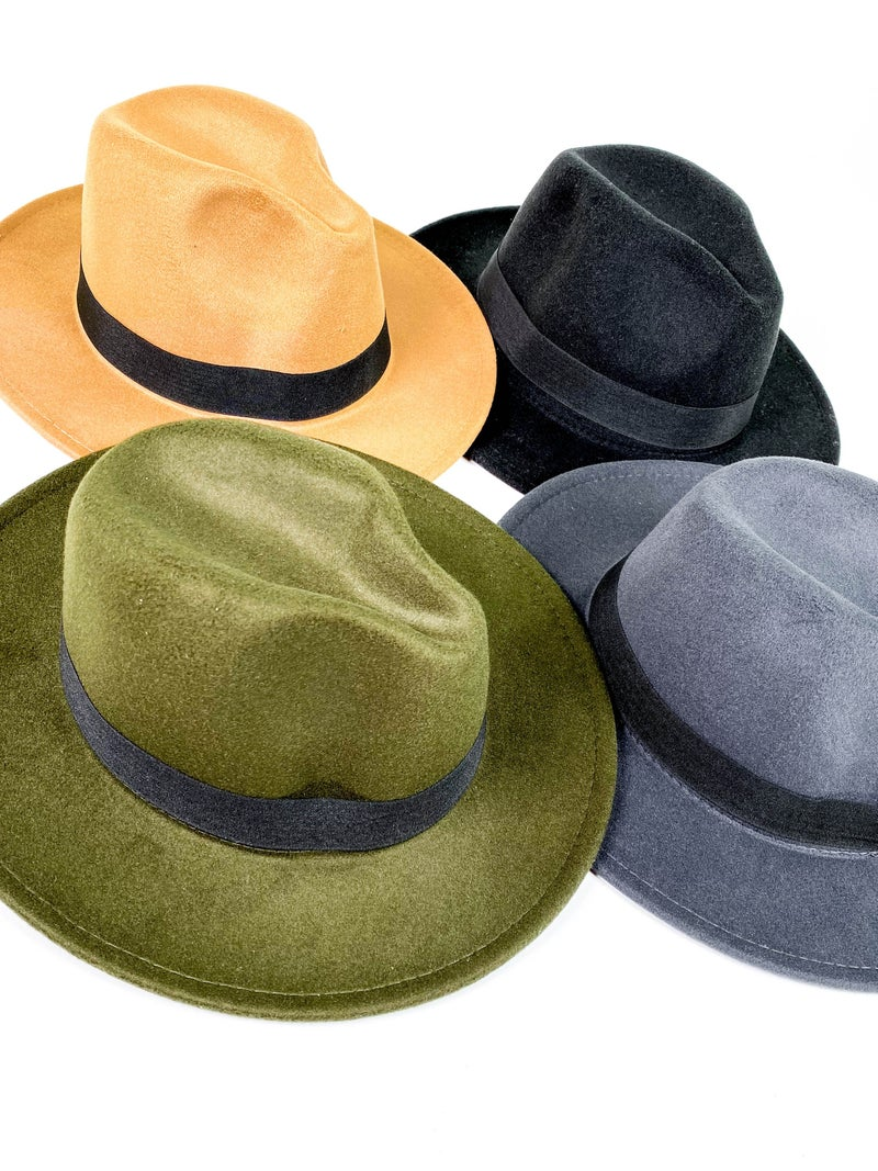 Rancher Felt Hat (Multiple Colors)