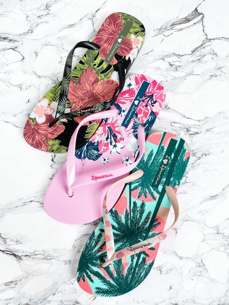Ipanema Tropical Print Flip Flops (Multiple Colors)