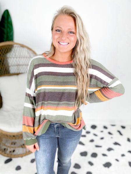 Multi Color Striped Tunic Top