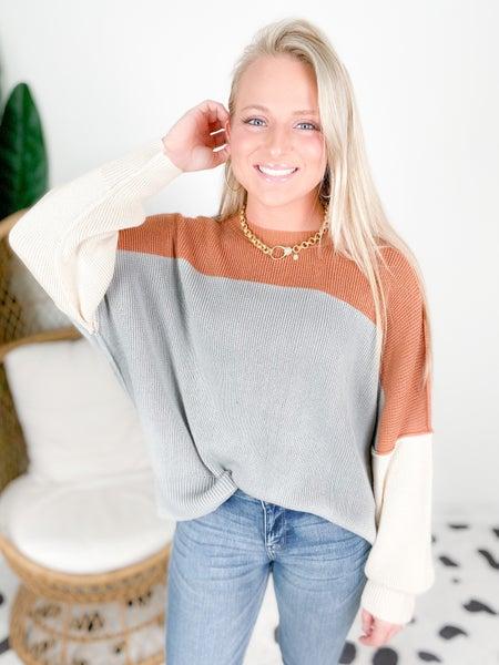 RESTOCK!! Loose Fit Color Block Sweater (Multiple Colors)