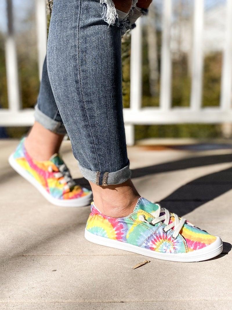 Tie Dye Low Top Sneakers (Multiple Colors)
