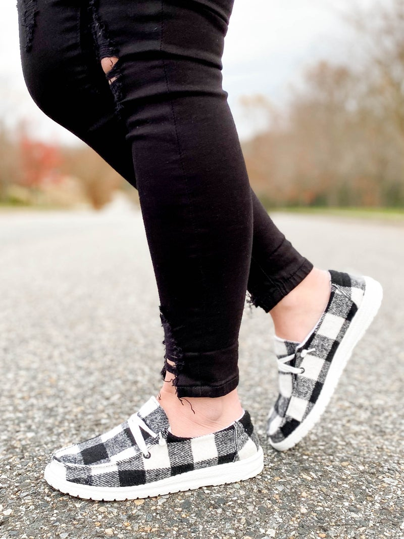 Hey Girl Buffalo Plaid Loafers (Multiple Colors)