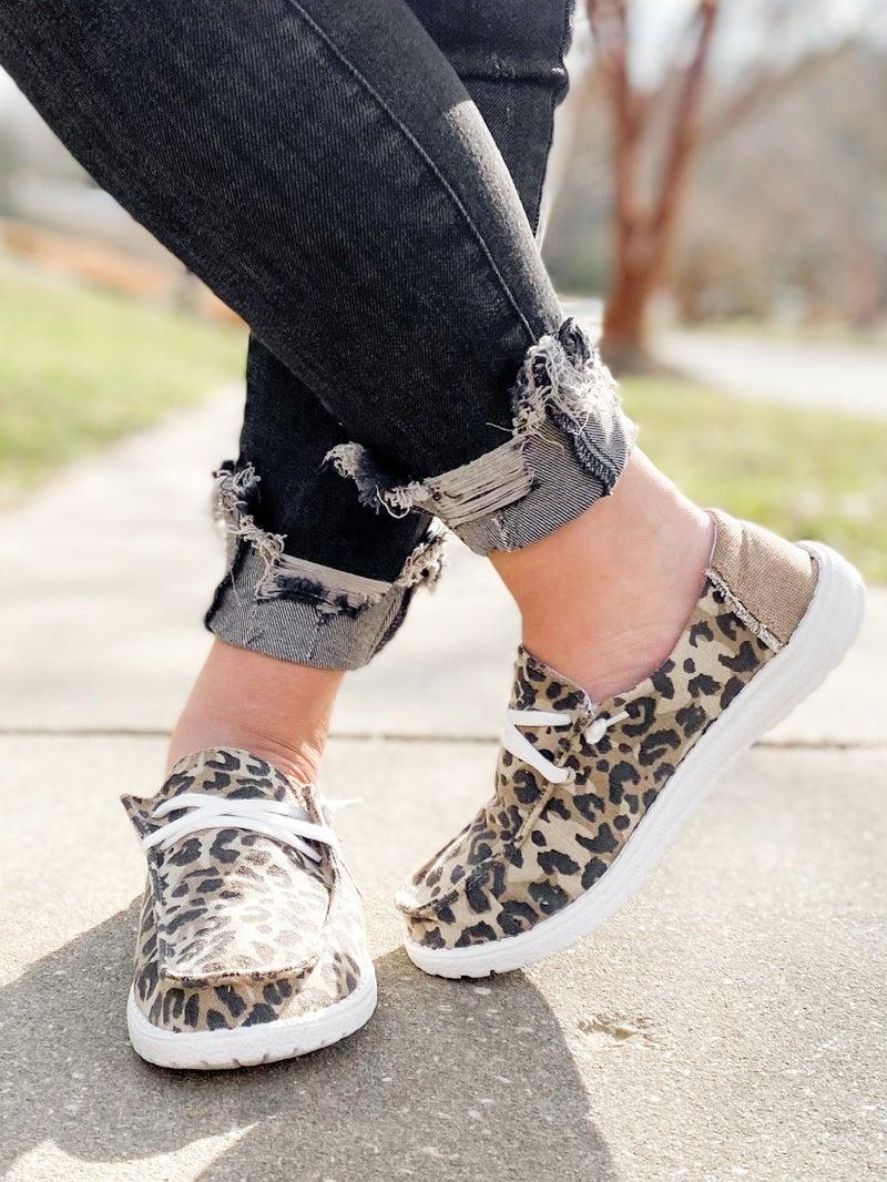 Hey Girl Leopard Slip On Sneaker With Star Detail