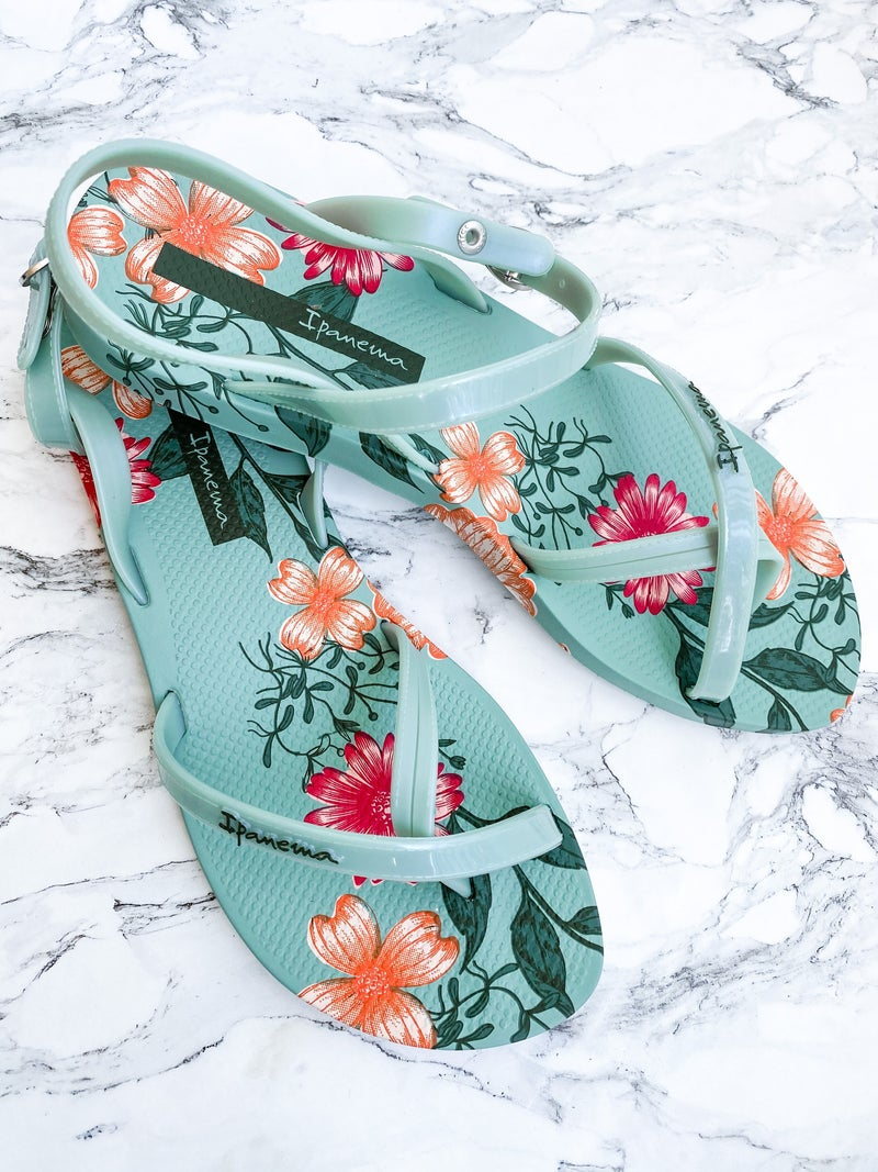 Ipanema Floral Cross Strap Sandals (Multiple Colors)