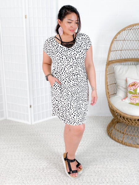 PLUS/REG Cheetah Print Knit Dress (Multiple Colors)