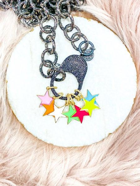 """Karli Buxton 1"""" Enamel Star Pendant (Multiple Colors)"""