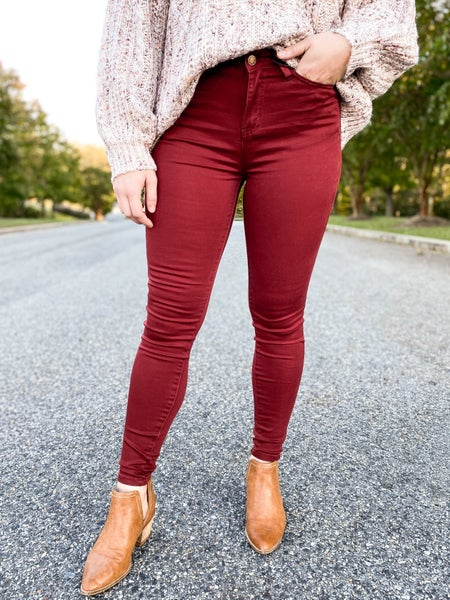 PLUS/REG Judy Blue Colored Skinny Jeans (Multiple Colors)