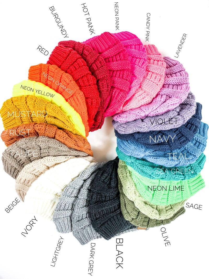 Super Soft CC Beanie (Multiple Colors)