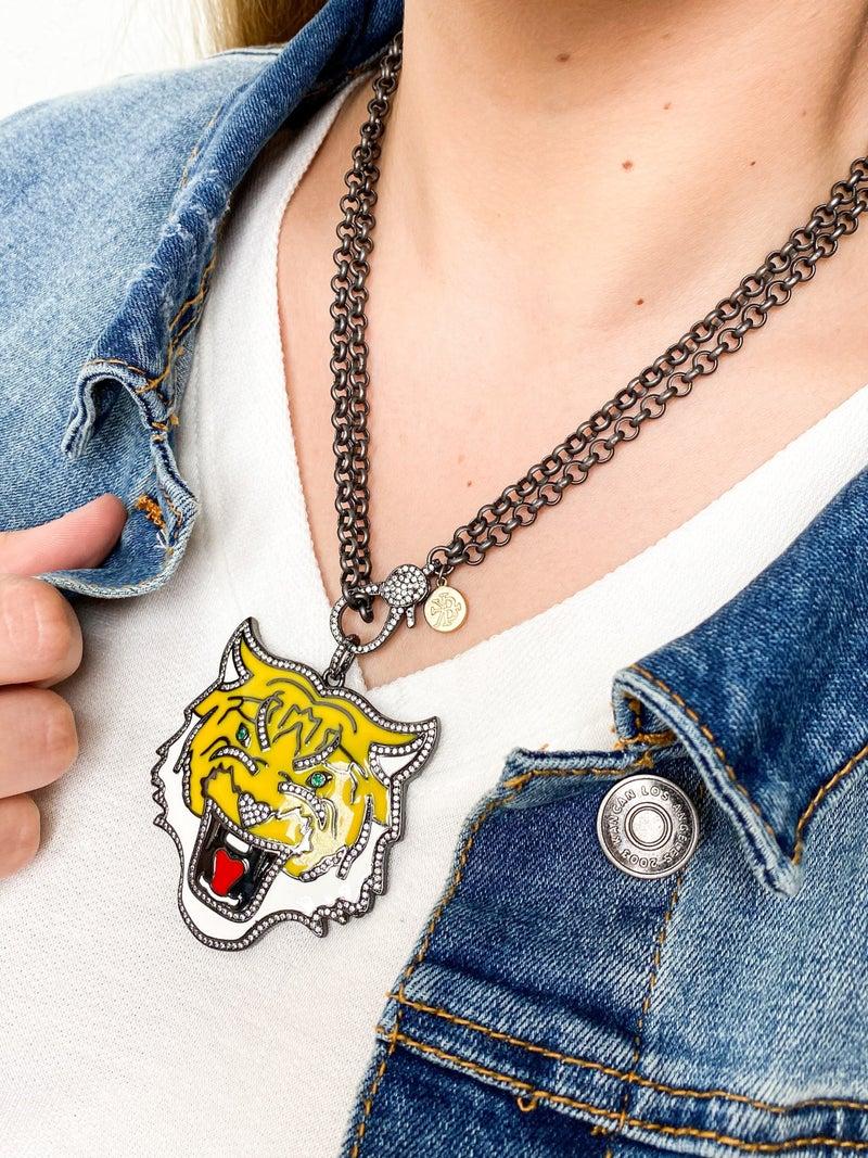 Karli Buxton Enamel Tiger Pendant