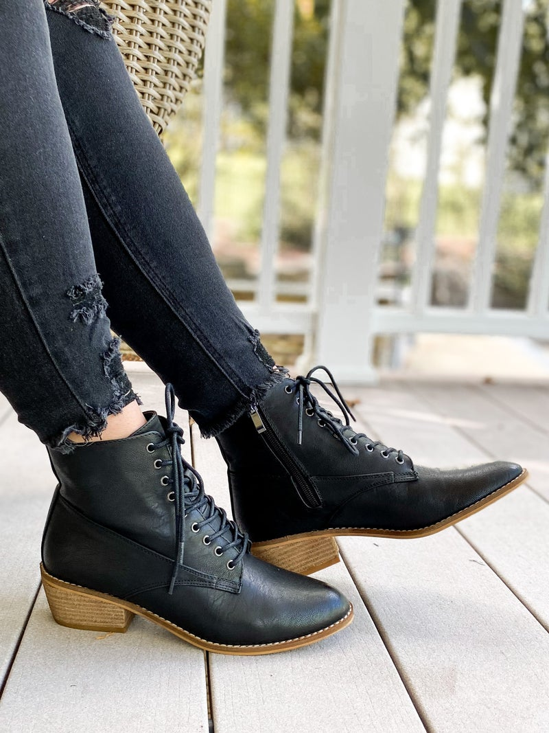 Beast Lace Up Ankle Boots (Multiple Colors)