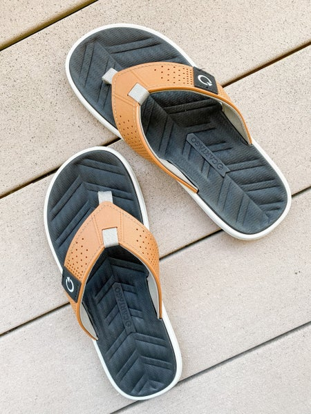 Mens Perforated Flip Flops
