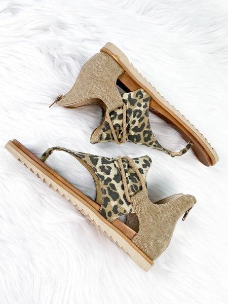 Leopard Print Thong Sandal