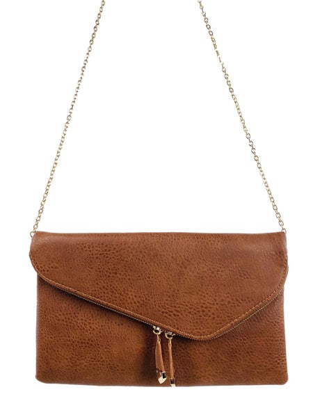 Vegan Leather Crossbody Clutch (Multiple Colors)