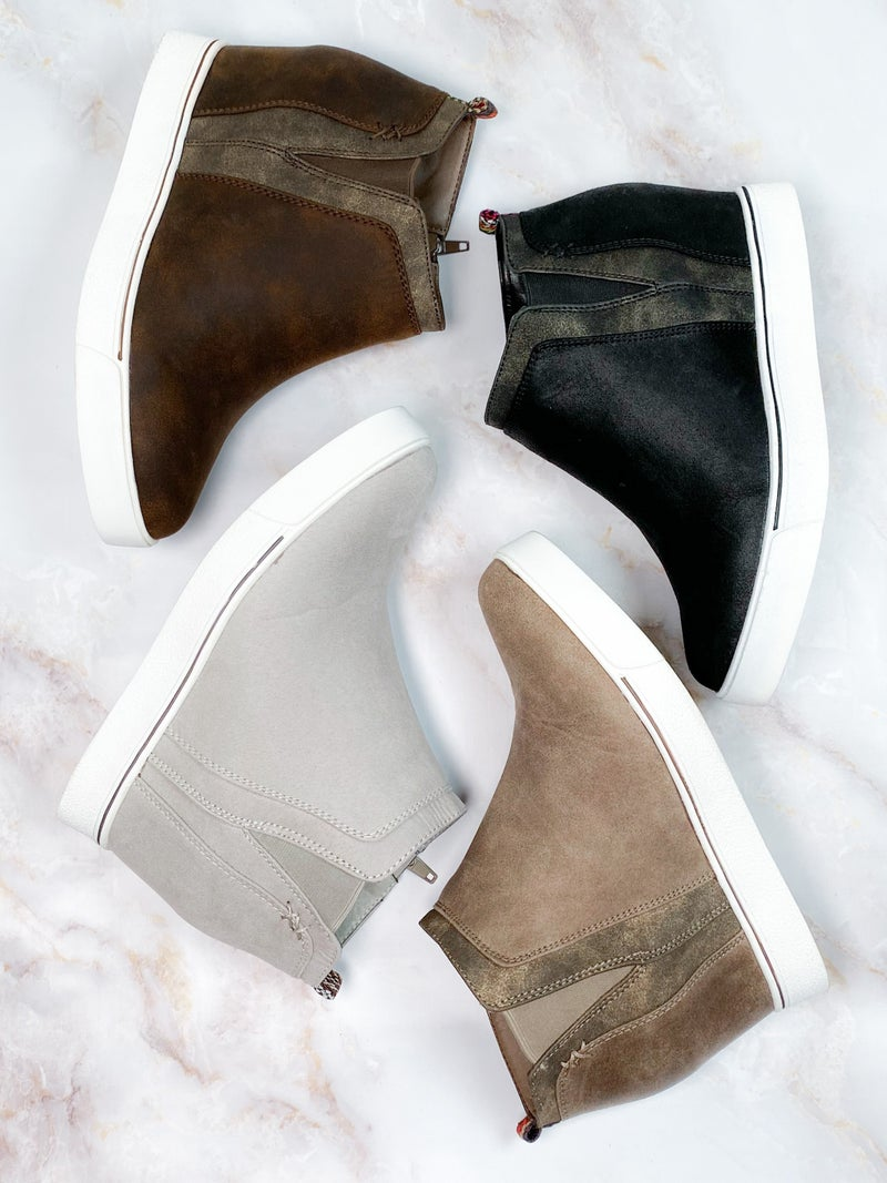 Wedge Sneaker with Metallic Detail (Multiple Colors)
