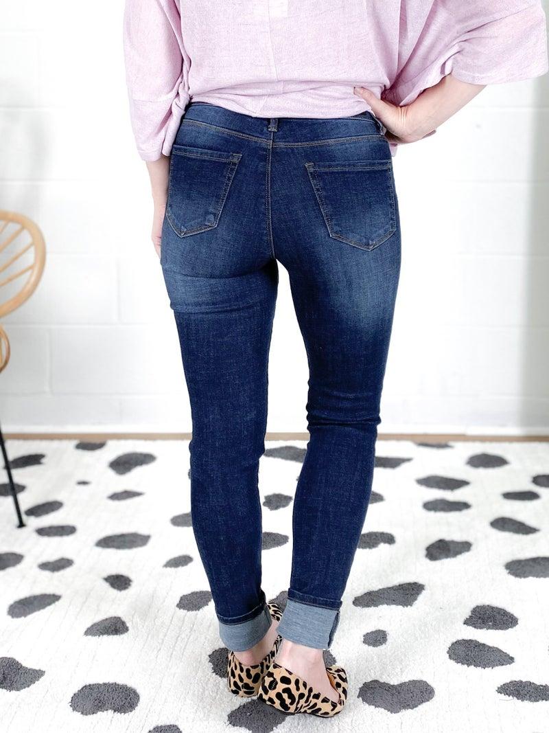 DOORBUSTER PLUS/REG C'est Toi Black Label Bringing Basic Back Non-Distressed Jeans