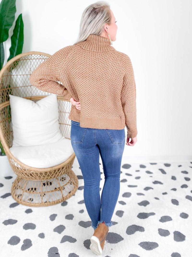 Door Buster! Zenana Turtleneck Melange Sweater (Multiple Colors)