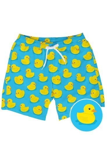 PLUS/REG Rubber Ducky Mens Swim Trunks
