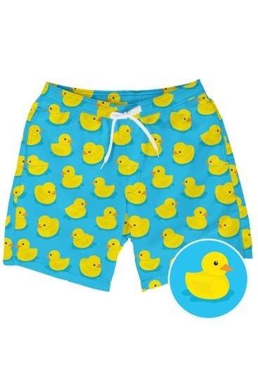 PLUS/REG Rubber Ducky Mens Swim Trunks