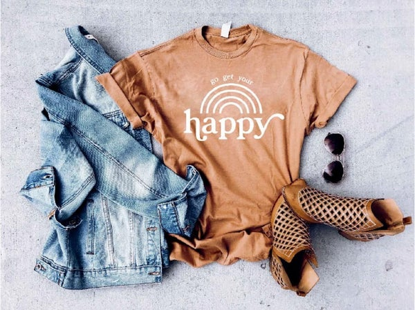 Go Get Your Happy - Vintage Wash T