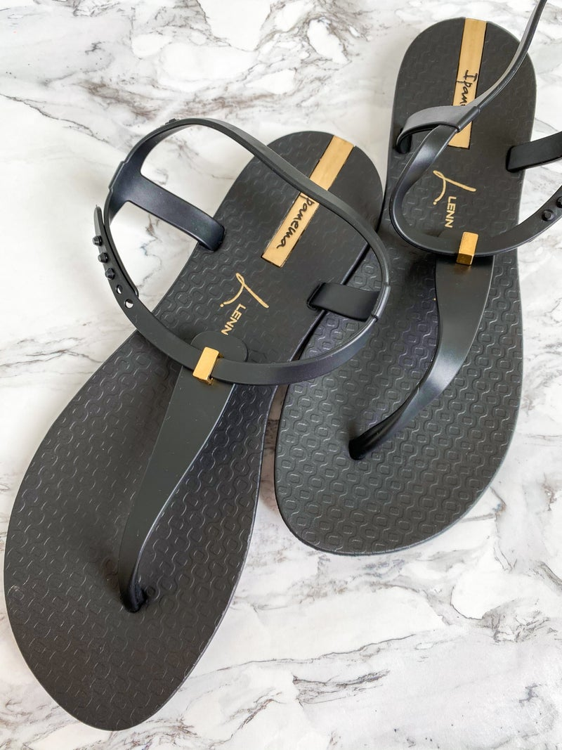 Ipanema Metal Detail T-Strap Sandals (Multiple Colors)