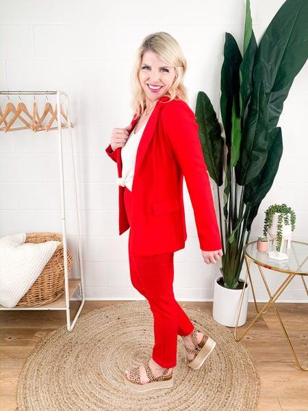 Red Hot Welt Pocket Trouser