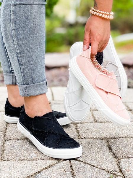 Velcro Criss Cross Slip On Sneakers (Multiple Colors)