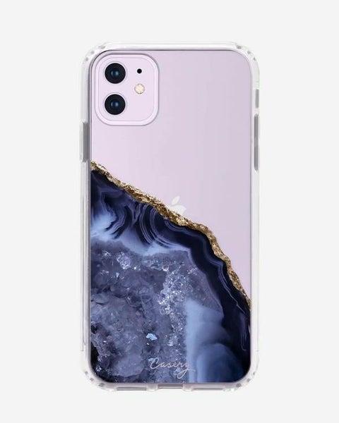 Dark Blue Agate iPhone Case