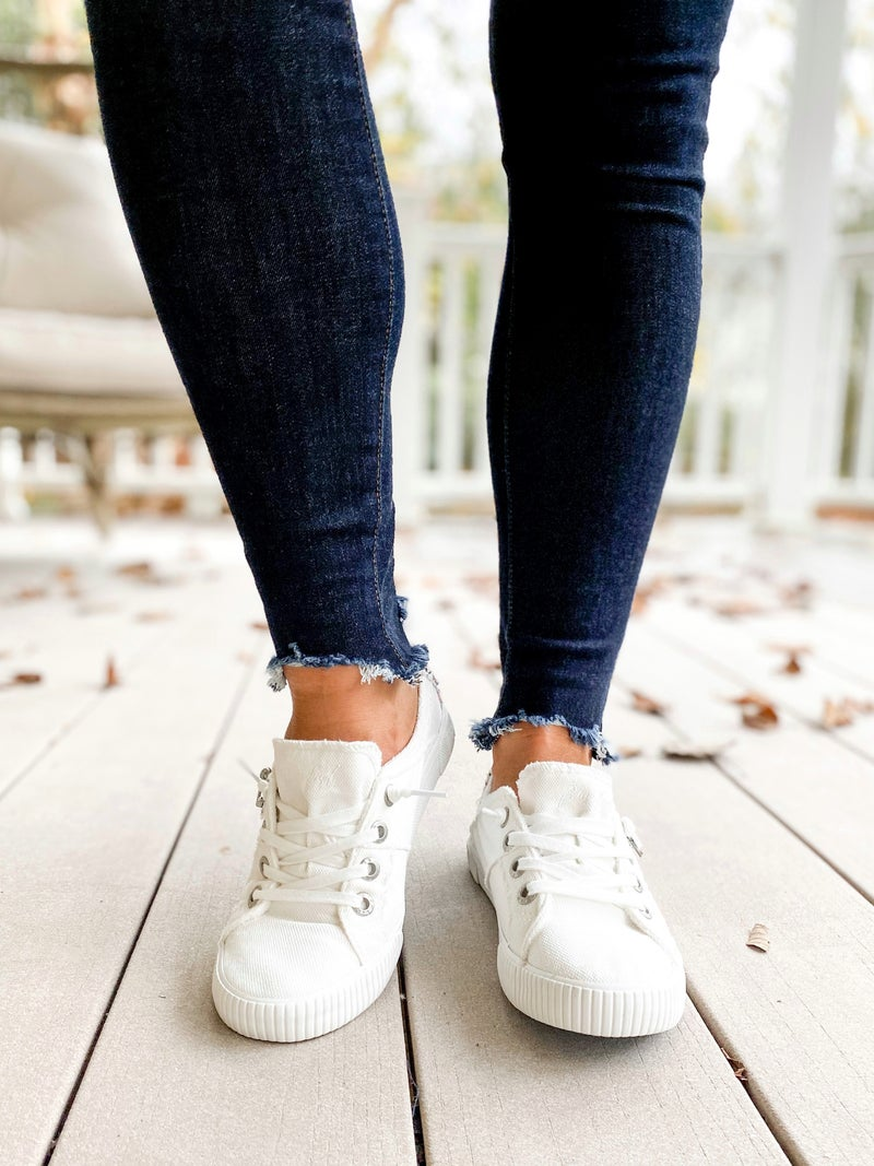 White Blowfish Sneakers With Zipper Detail