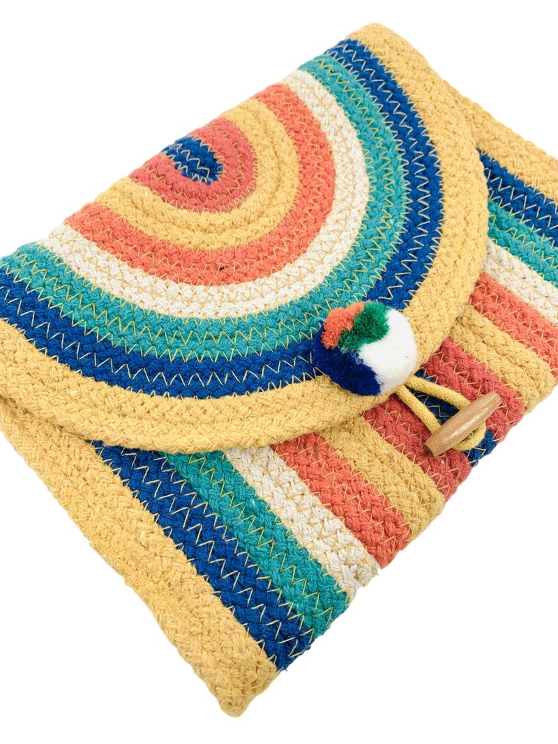 Hello Sunshine Stripe Clutch