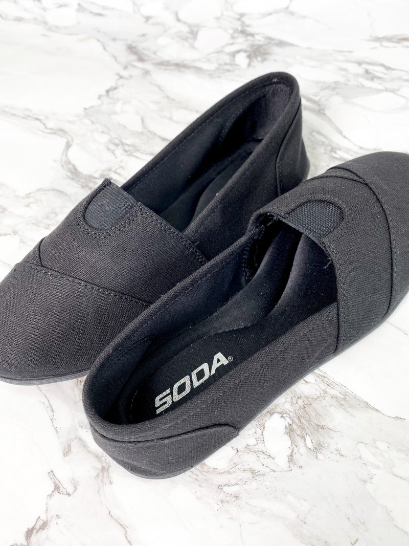 Soda Linen Canvas Slip On Loafers (Multiple Colors)
