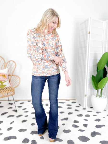 And the Why Floral Print Dolman Top