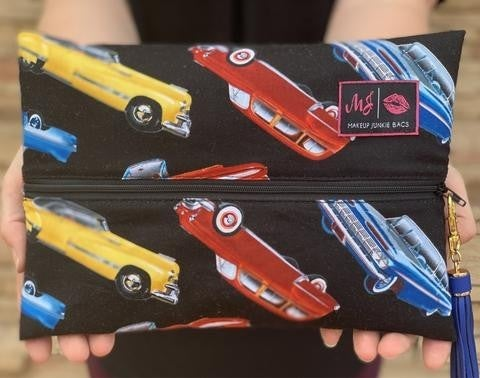 Vintage Car Makeup Junkie Bags (Multiple Sizes)