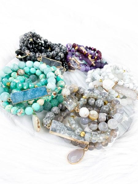 Stretch Bracelet Sets (Multiple Colors)