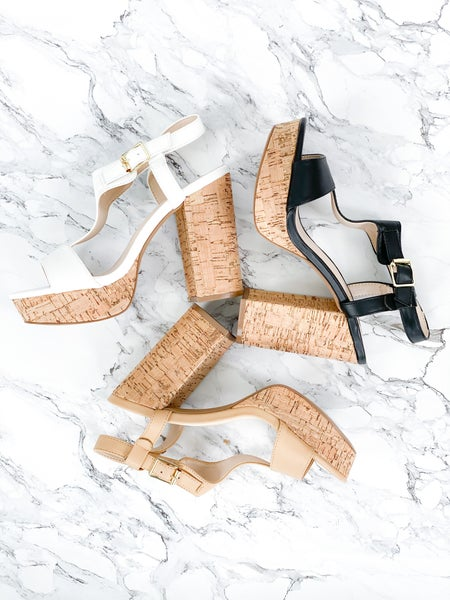 (Multiple colors) Strap Platform Chunky Sandals