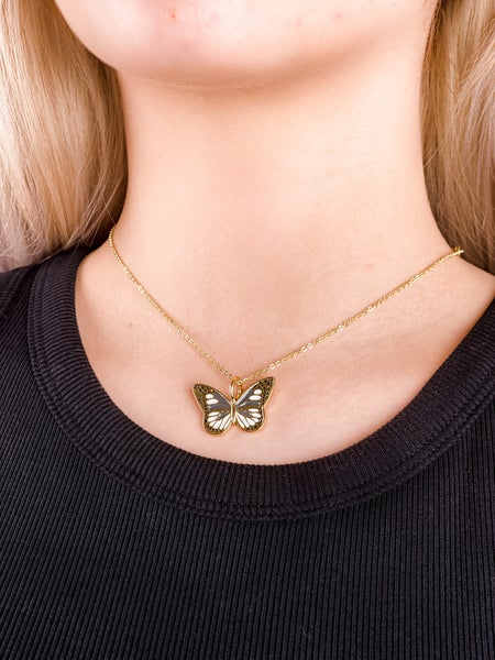 Butterfly Kisses Gold Necklace