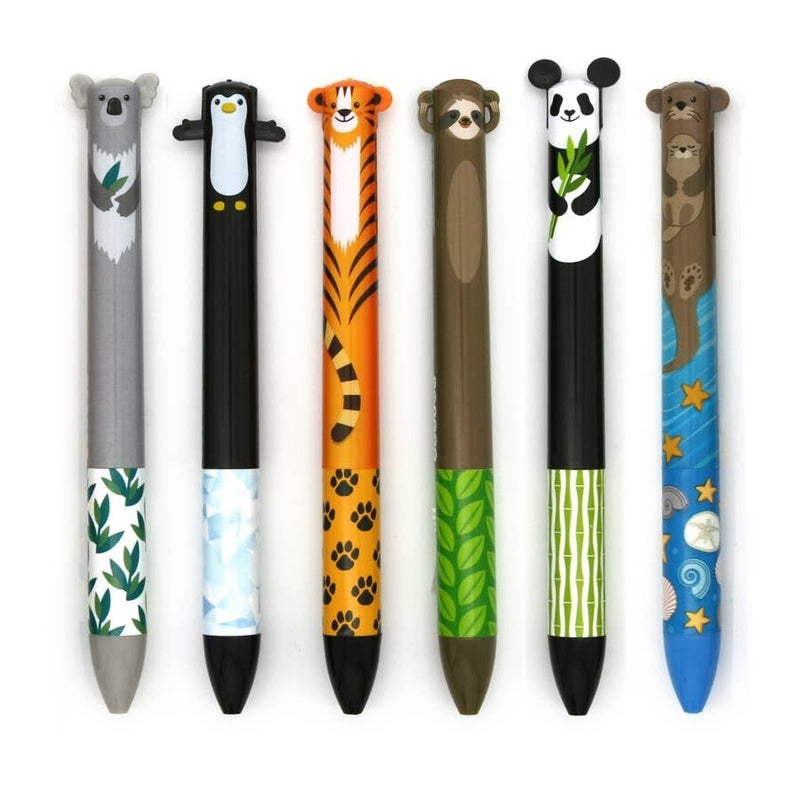 Cute Creatures 2 Color Click Pens (Multiple Options)