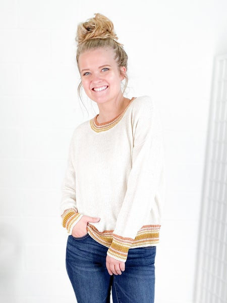 Striped Soft Touch Lightweight Sweater