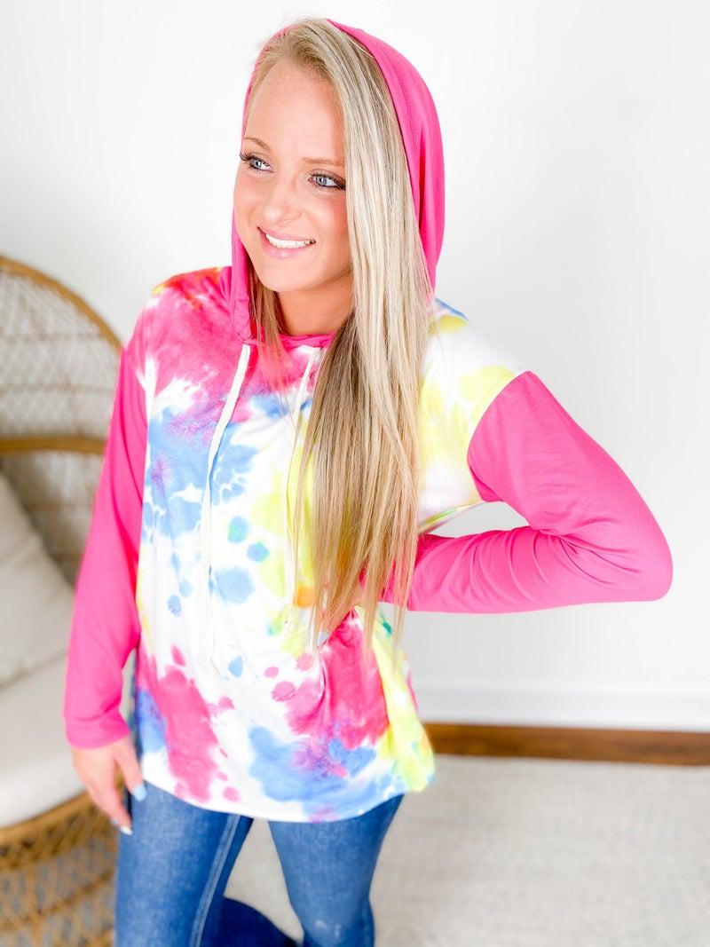 PLUS/REG Bright Ink Splotch Dye Hoodie (Multiple Colors)