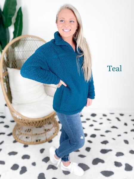 Door Buster! PLUS/REG Zenana Sherpa Half Zip Pullover (Multiple Colors)