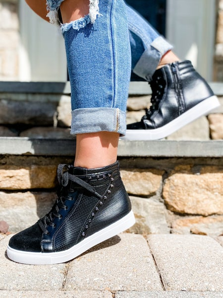 Studded High Top Sneakers (Multiple Colors)