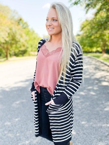 PLUS/REG Striped Cardigan (Multiple Colors)