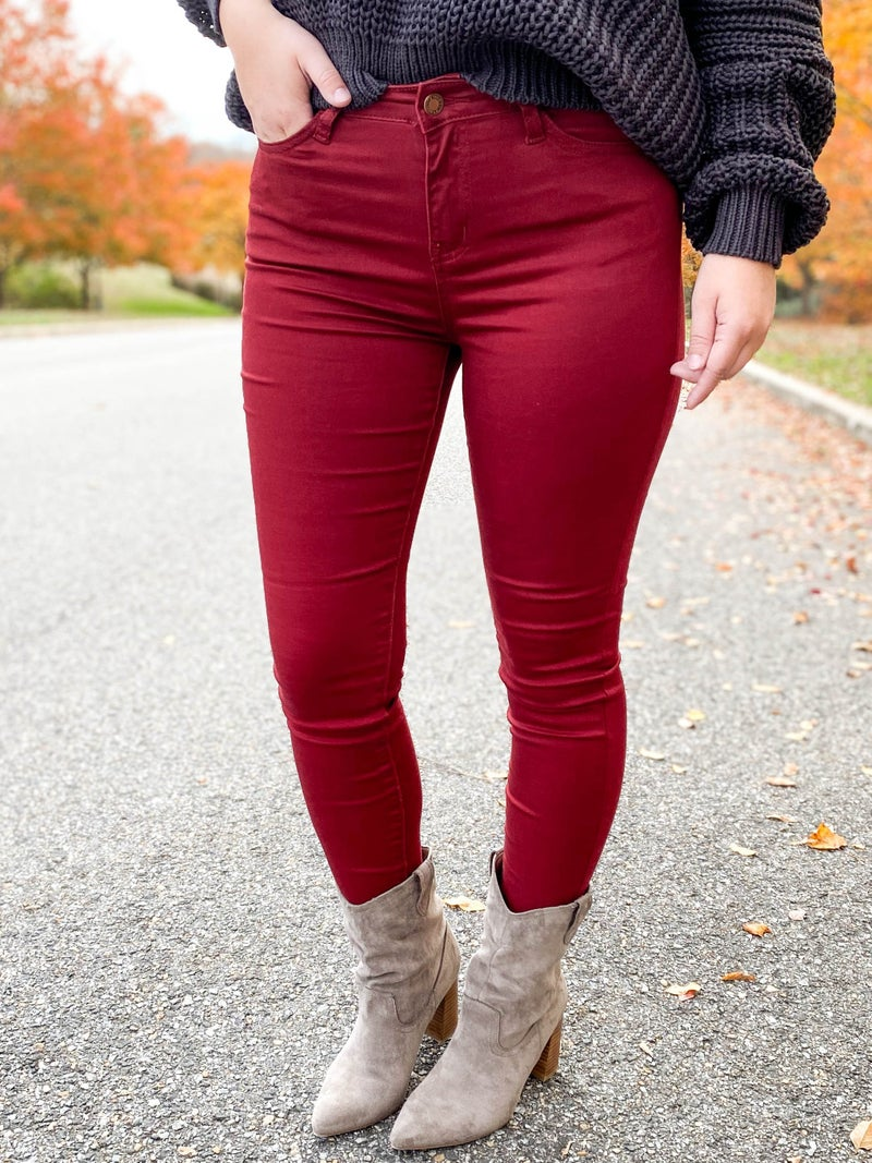 POPPY DAY!! PLUS/REG Judy Blue Colored Skinny Jeans (Multiple Colors)