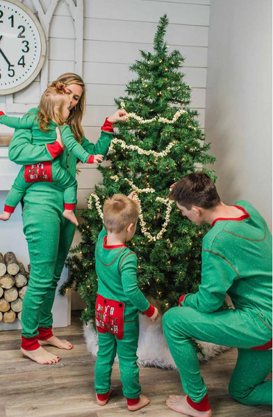 Family Matching Flap Jack Pajamas Don't Open Until Christmas