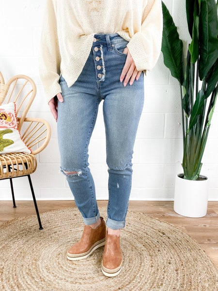 Kancan Fly As  A Mother (size down'er!) Girlfriend Jeans