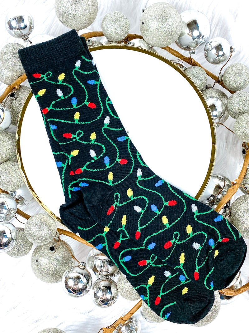 Men's String Lights Christmas Socks