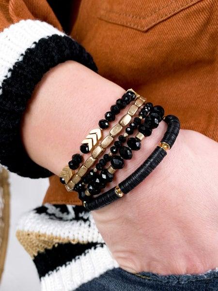 Chevron Beaded 5 Strand Bracelet  (Multiple Colors)