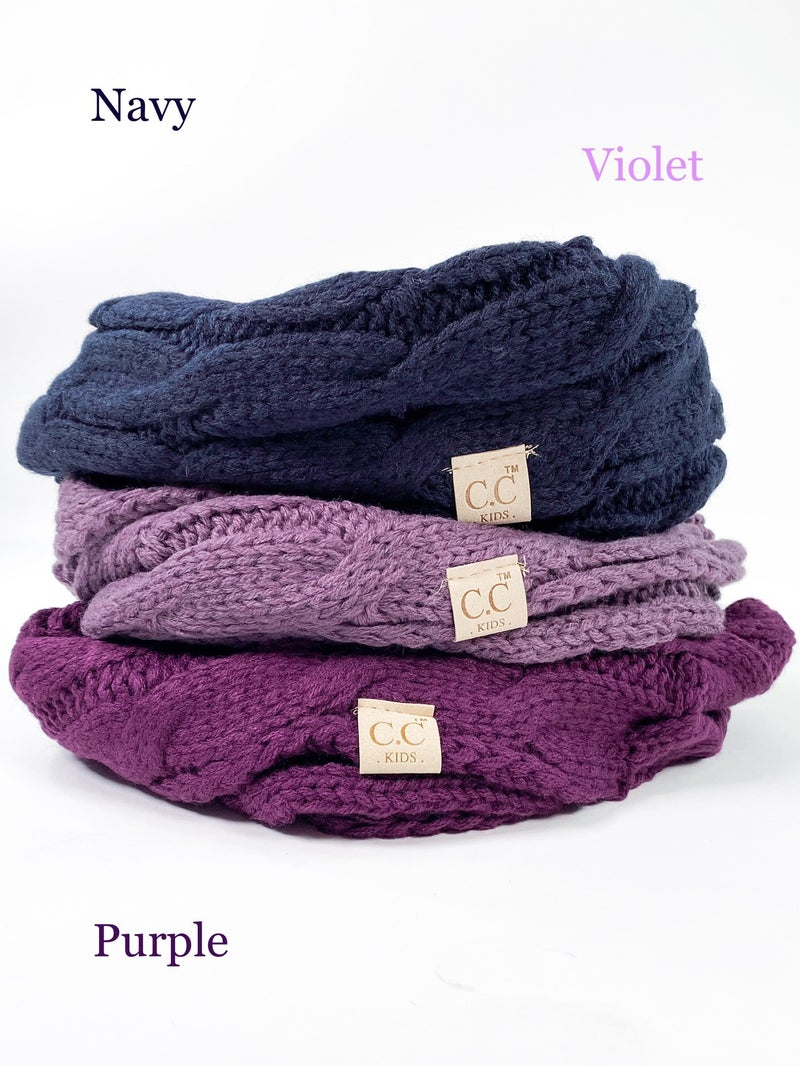 CC Kids Knit Infinity Scarf (Multiple Colors)