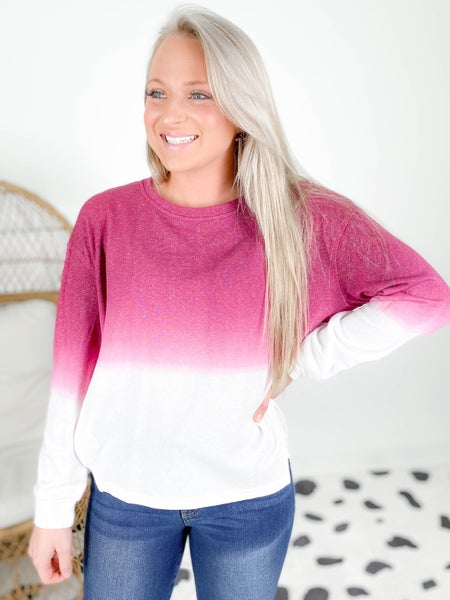 PLUS/REG Ombre French Terry Top (Multiple Colors)