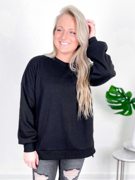 Door Buster! PLUS/REG Zenana High Low Sweatshirt (Multiple Colors)