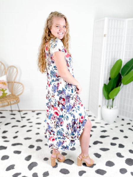 Floral Swing Dress (Multiple Colors)